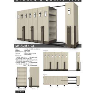 Mobile File Mekanik Alba MF AUM 1-03 B ( 40 Compartments )