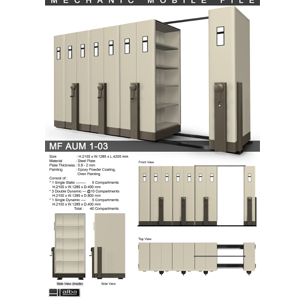 Mobile File Mekanik Alba MF AUM 1-03 B ( 40 Compartments )