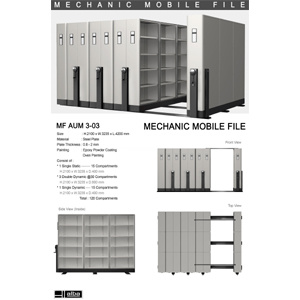 Mobile File Mekanik Alba MF AUM 3-03 ( 120 Compartments )