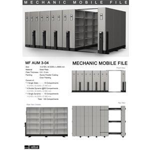 Mobile File Mekanik Alba MF AUM 3-04 ( 150 Compartments )