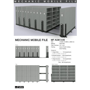 Mobile File Mekanik Alba MF AUM 3-05 ( 180 Compartments )